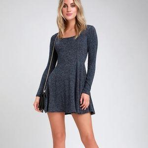 LULU'S - NWT Stetson Long Sleeve Skater Dress